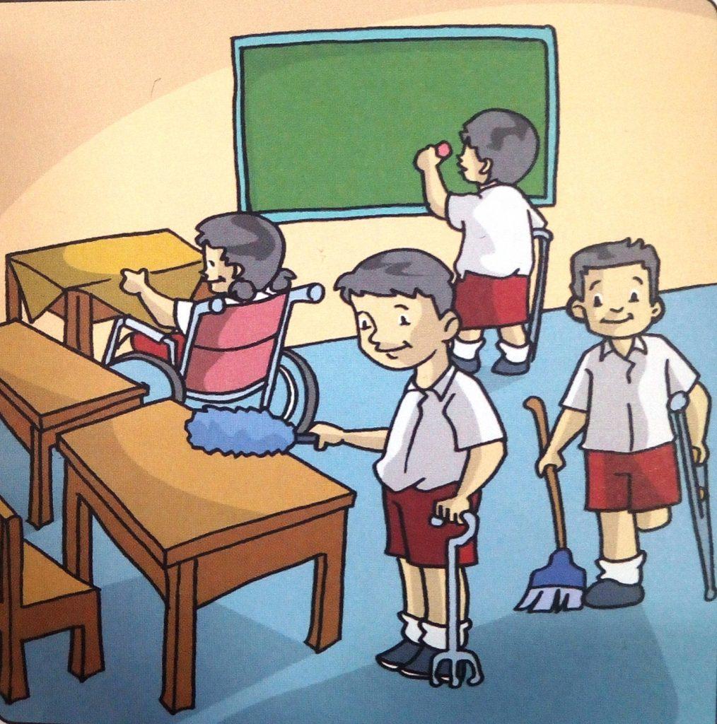 """RPP Tematik Tunadaksa """"Gotong Royong Di Sekolah"""" Bagi Kelas"""