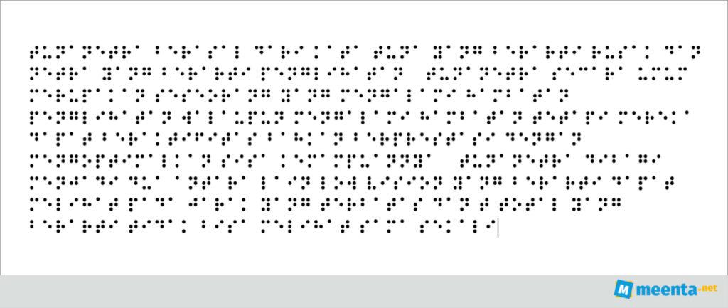 braille paragraf