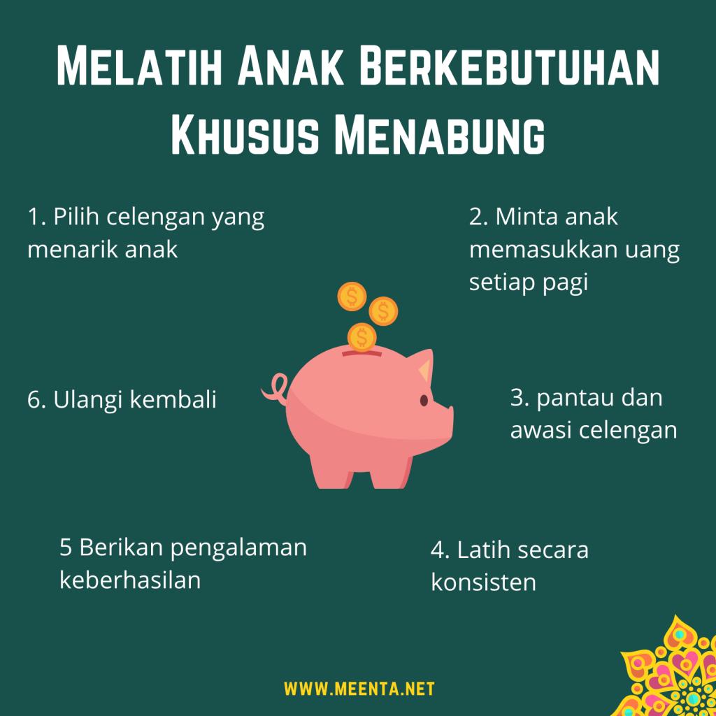 infografik melatih anak berkebutuhan khusus menabung