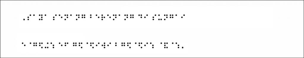tulisan braille