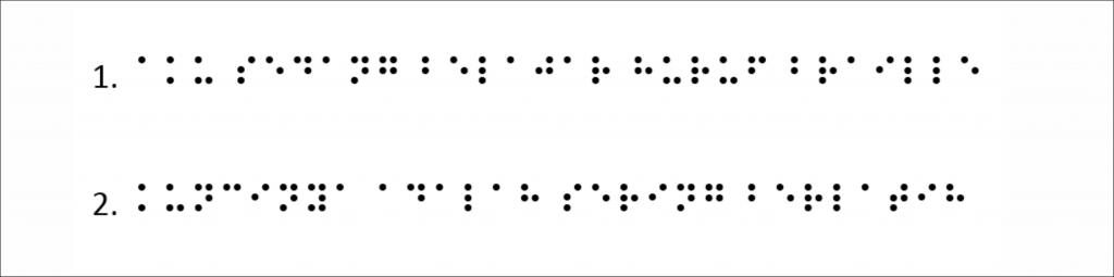 Soal latihan braille