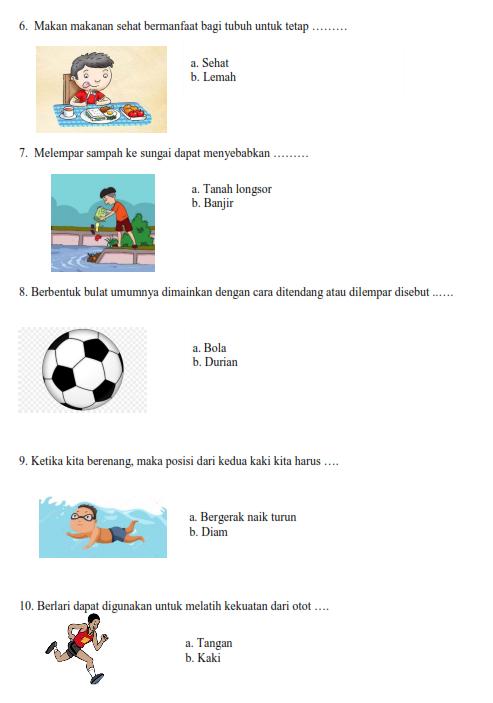 Soal olahraga SLB