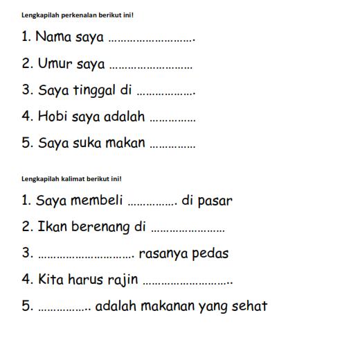 soal bahasa indonesia slb isian