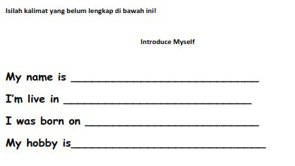 Soal memperkenalkan diri dalam bahasa Inggris