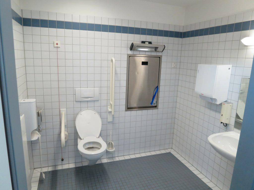 Tata Kota Ramah Disabilitas yakni Toilet untuk disabilitas