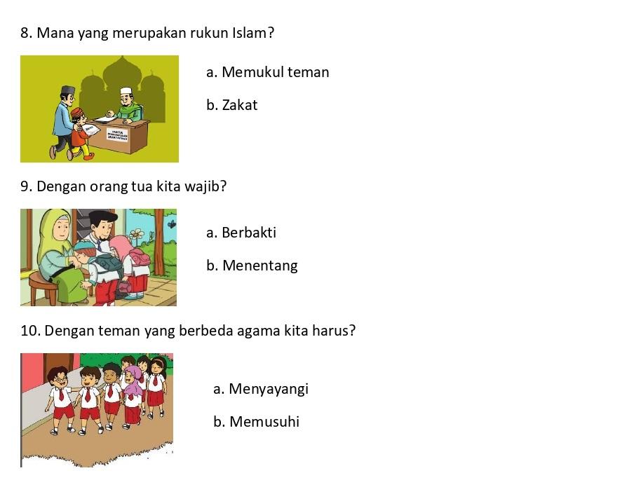 soal agama islam slb 2