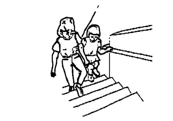 tunanetra naik tangga