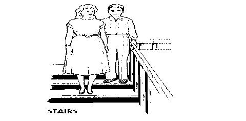 tunanetra turun tangga