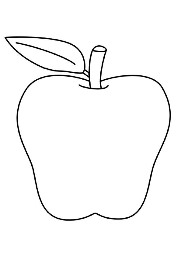 Sketsa Mewarnai Anak TK: gambar apel