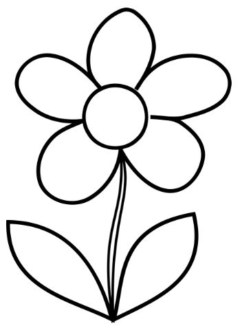 sketsa gambar bunga sederhana