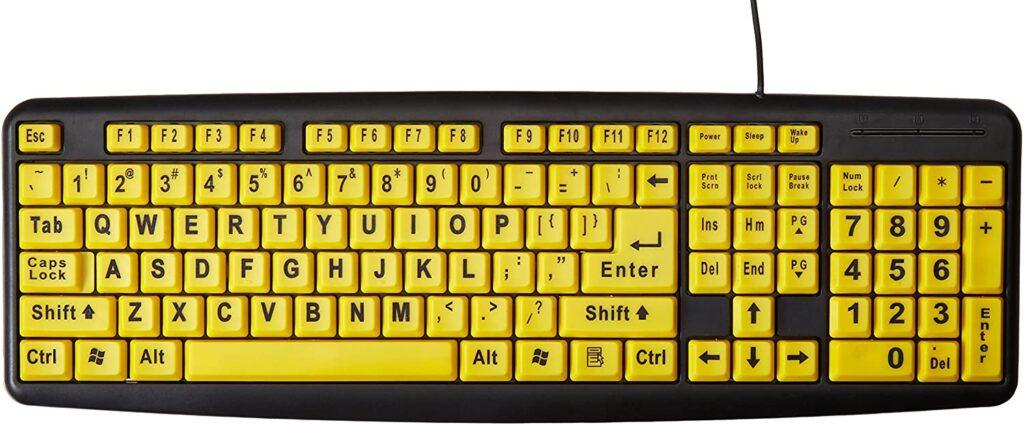 keyboard low vision