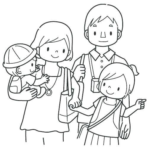 Sketsa gambar keluarga